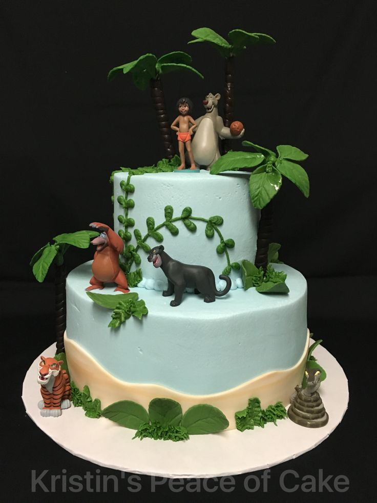 Jungle Book Cake Decorations : 44 best Disney s Jungle Book Cakes images on Pinterest