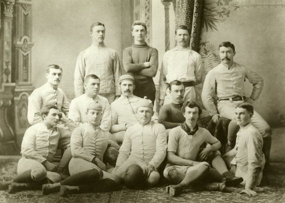 c.1883 University of Michigan Wolverines Football by GalleryLF