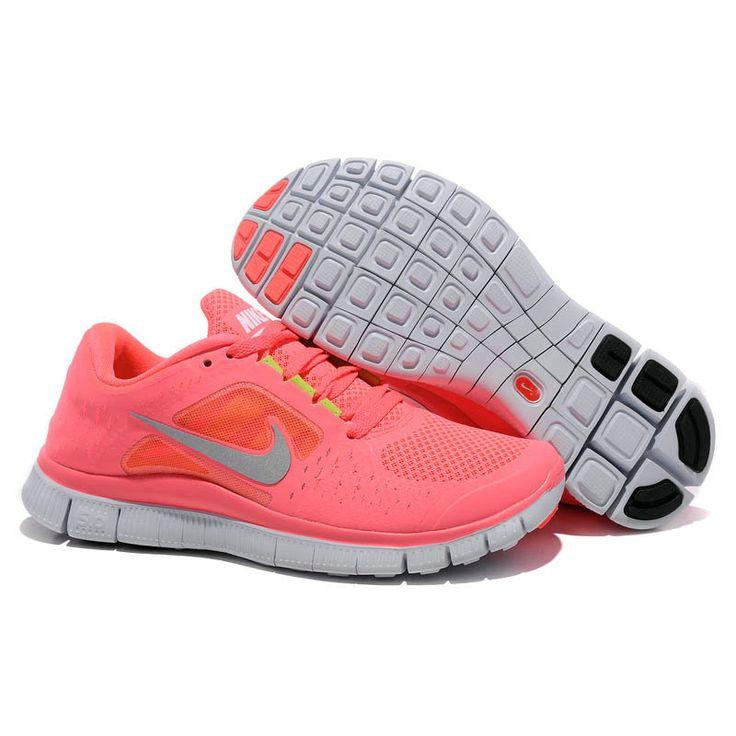 Cheap Coral Silver Womens Nike Free Run 3