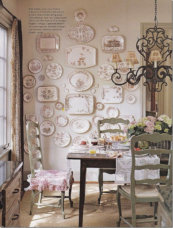 Idea for decorating with inherited (and often incomplete) sets of china.