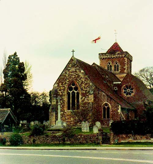 St. Mary's Church, Chiddingfold where many generations of Enticknaps are buried.