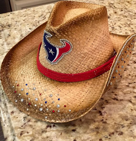 Houston Texans cowgirl hat by BlingBlingLicious on Etsy