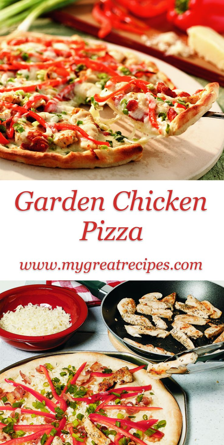 Refrigerated #pizza dough makes fresh, homemade white pizza, with tender pieces of #chicken a quick supper option.