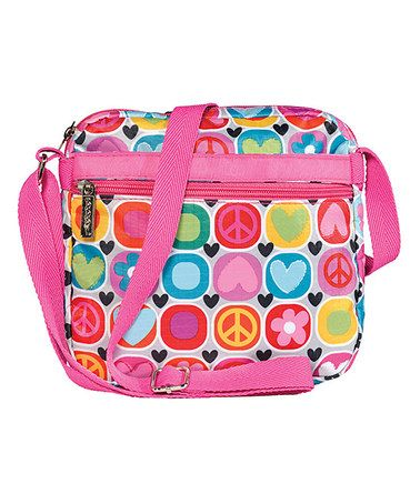 Another great find on #zulily! Pink Flowers & Hearts Crossbody Bag #zulilyfinds