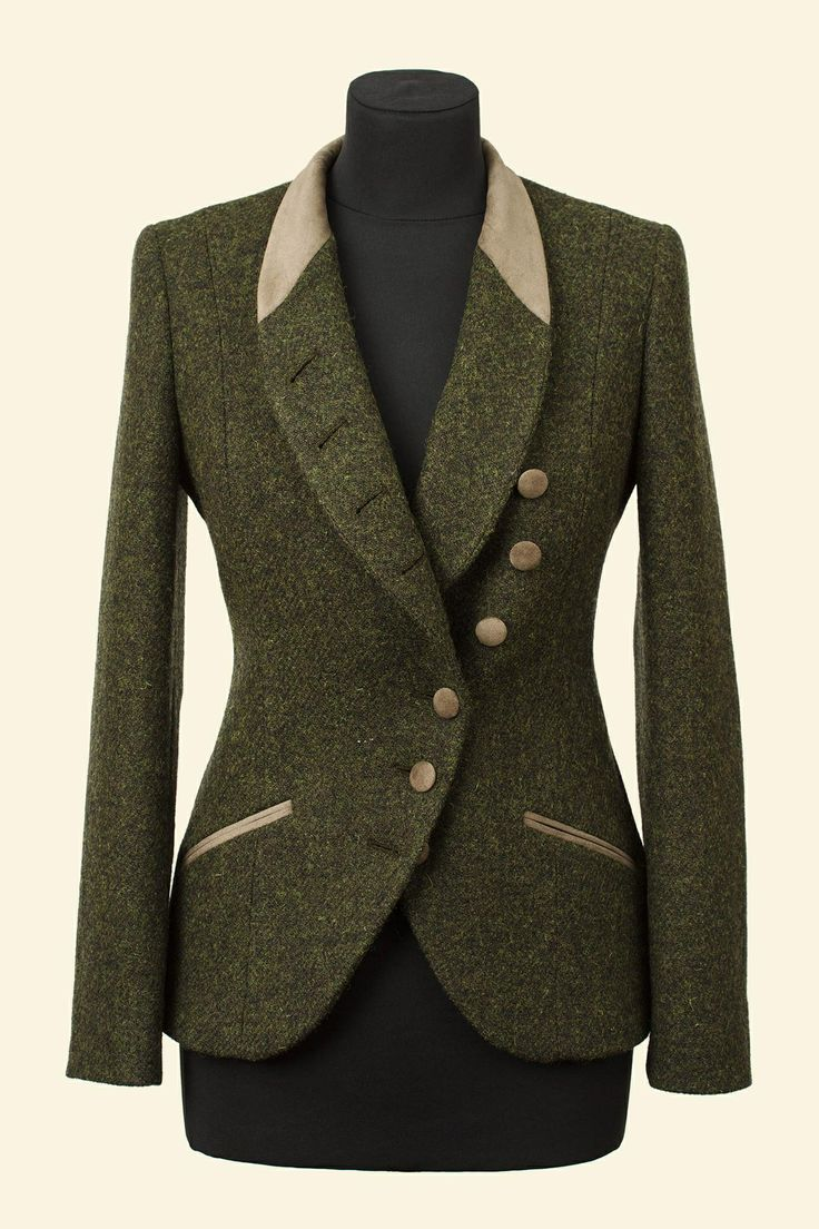 Olive Harris Tweed Emma Jacket Walker Slater Tweed Specialists