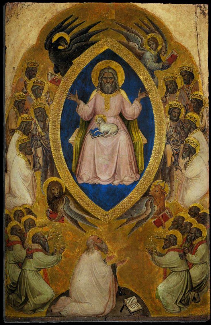 ALBEREGNO, Jacobello Polyptych of the Apocalypse (central panel) 1360-90 Tempera on panel, 95 x 61 cm Gallerie dell'Accademia, Venice