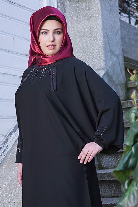 Dubai Yarasa Helozon Siyah Ferace / Feracem Ferace
