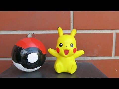 DIY How to Make a Pokemon Ball. Pokemon Ball, Pikachu. - YouTube