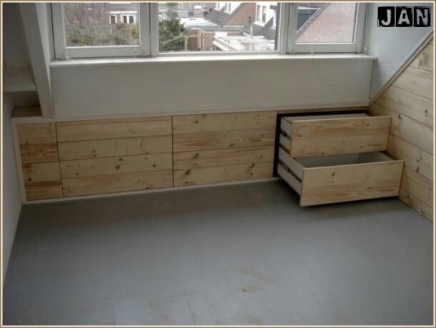 17 beste idee n over lades onder het bed op pinterest onder het bed opslag het organiseren - Lay outs slaapkamer onder het dak ...