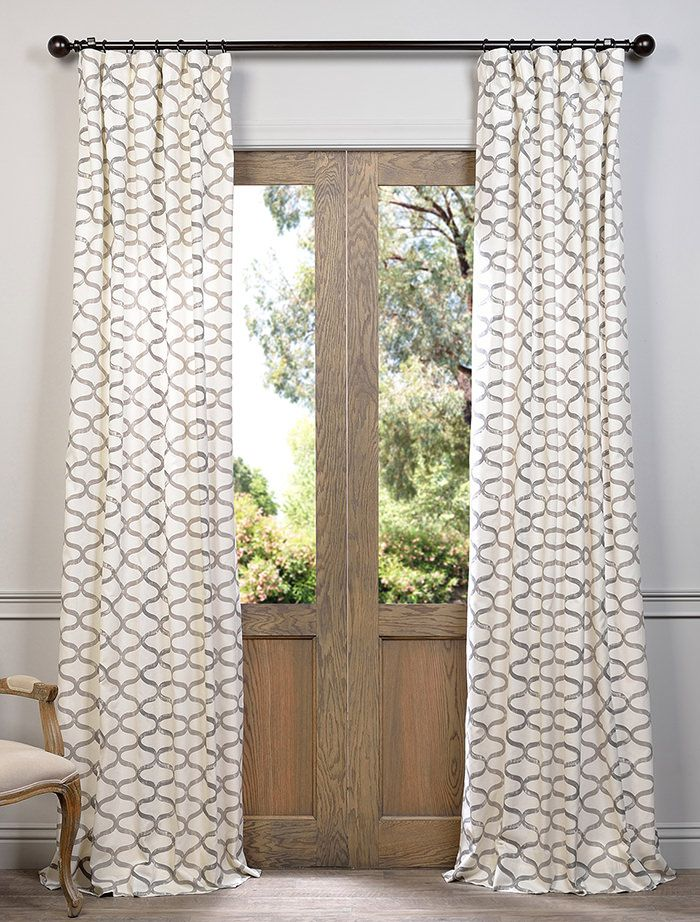 Browse U0026 Buy Online Half Price Drapes Illusions Silver Grey Printed Cotton  Curtain Get The Best Price Now! Get The Best Value For Printed Cotton  Curtain ...