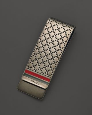Gucci Diamante Sterling Silver Money Clip | Bloomingdale's