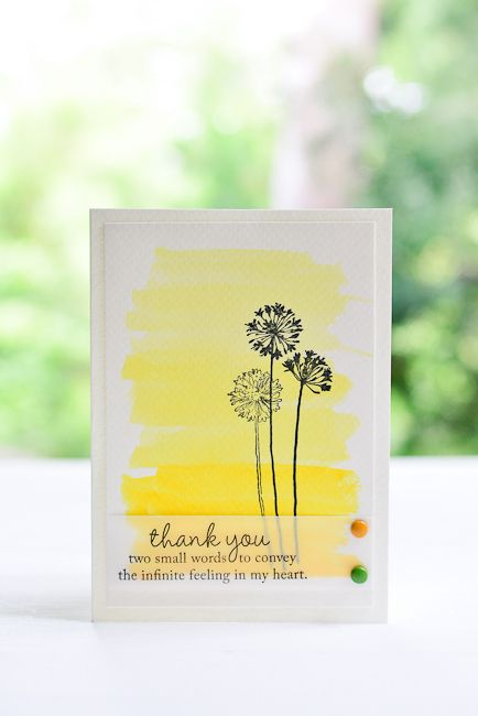 Watercolor Thank You Card / Handmade Card / Card Inspiration