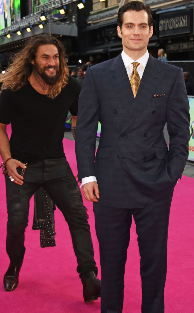 "{    JASON MOMOA AND HENRY CAVILL'S BUDDING BROMANCE IS DEVELOPING BEFORE OUR VERY EYES    }   #ENews ..... ""Henry Cavill seemed legitimately surprised when Jason Momoa grabbed him from behind at the London premiere of Suicide Squad.""....  http://www.eonline.com/news/785645/jason-momoa-and-henry-cavill-s-budding-bromance-is-developing-before-our-very-eyes"