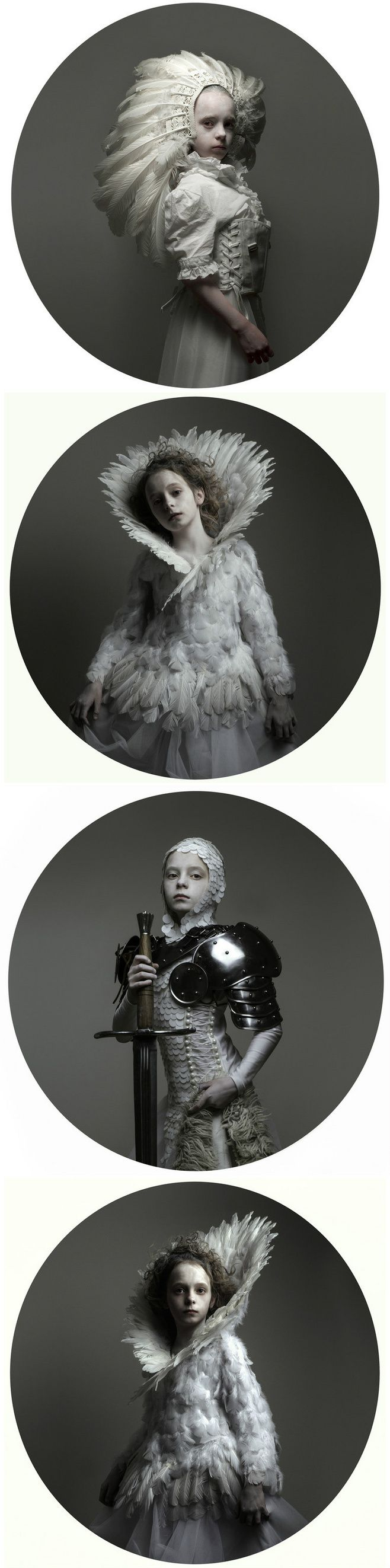 Amazing #fantasy and #feather costumes. Love the lighting and the child model.