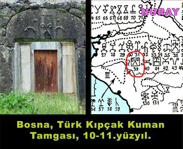 Bosna Osmanlıdan önce de Türk Kökenli Boyların yerleştiği bir yerdi..4 ve 5. yüzyıllarda, Karadenizin Kuzeyinden Göç eden Kuman Kıpçak Peçenek Türkleri, Bizans İçin Paralı askerlik yapmaya başlar. Ve aileleri ile birlikte Karadenizin Kuzeyi ve Balkanlar hatta Anadoluya yerleşirler. Elbette her Türk Gibi yerleştikleri her yere kendi Tamgalarını vururlar. Macar Bilim adamı Ligetti Çin'in vuruşu ile bu göçleri 1. yüzyıla kadar çeker.