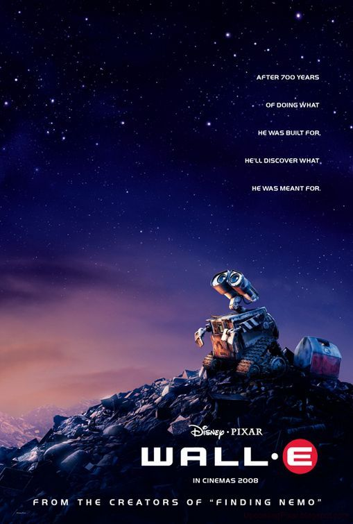 Wall-E.  This superb Pixar animation is their most cinematic piece. From the silent movie beginning to its well thought out and carefully crafted plot of a dystopian world forgotten by the humans who tore it asunder. It looks beautiful and has a humour and depth that eludes most modern day cinema. A must see animation! (thanks to impawards.com for the pic)