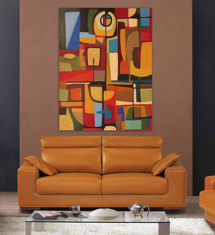 Find More Painting Calligraphy Information About Hand Painted Oil Modern Abstract Puzzle Brown Color Concept Art Office Bedroom Living Room Wall