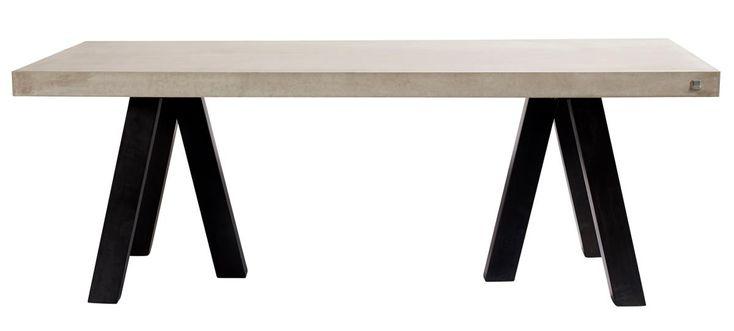 Rockefeller bord - Grå m. svarta ben från Muubs hos ConfidentLiving.se