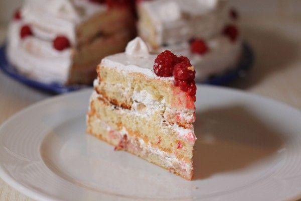 №1 Бисквитный торт с белковым кремом и малиной - Non, Je Ne Regrette Rien Безе
