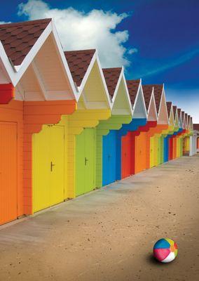 Beach Huts #Postcards