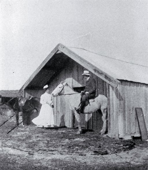 Nurse Akenehi Hei, who was the first Maori nurse to qualify in 1908, outside her tent hospital