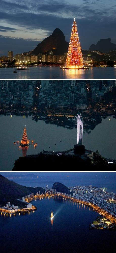 The world's largest Christmas tree on water / Rio de Janeiro