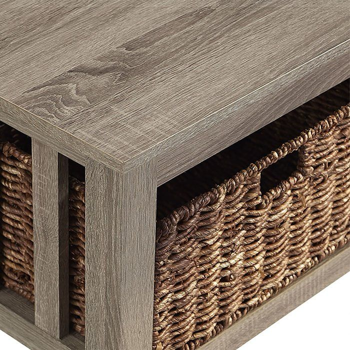 Denning Coffee Table With Storage Driftwood Coffee Table
