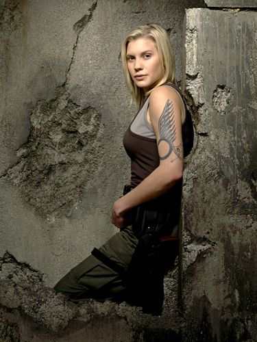 starbuck - katee sackhoff - I have a problem... her name is Starbuck.