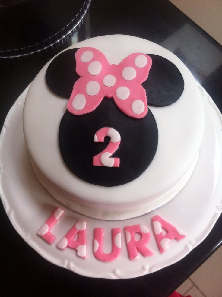 Laura's 2nd birthday Minnie Mouse cake.