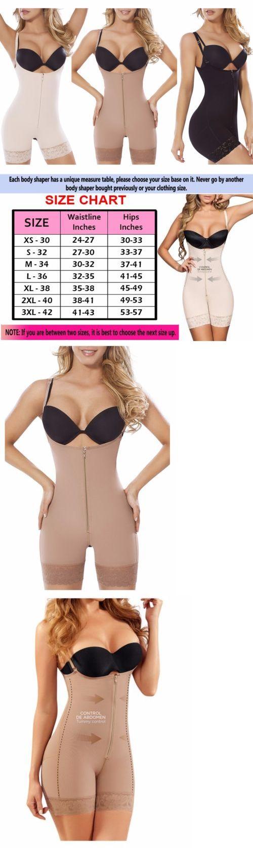 Women Shapewear: Fajas Reductoras Colombianas, Full Body Shaper, Powernet Zipper Shapewear Suit -> BUY IT NOW ONLY: $59.95 on eBay!