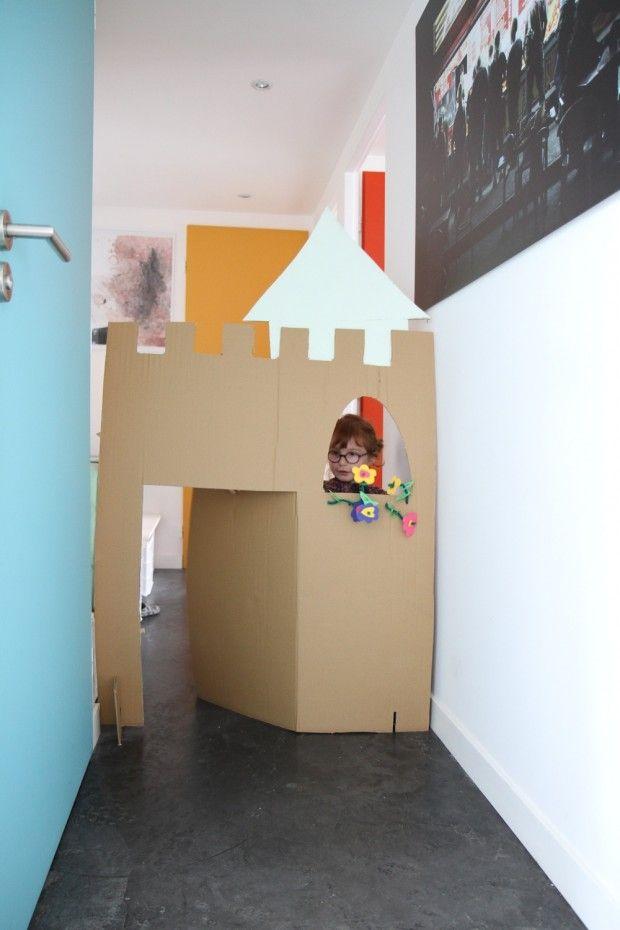 1000 id es sur le th me ch teau en carton sur pinterest chateau boite en carton maison pour. Black Bedroom Furniture Sets. Home Design Ideas