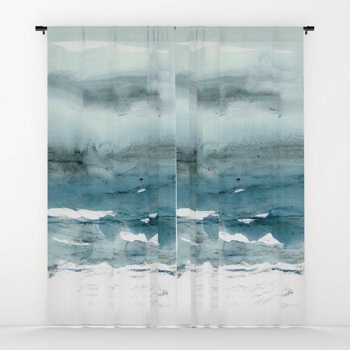 dissolving blues Window Curtains