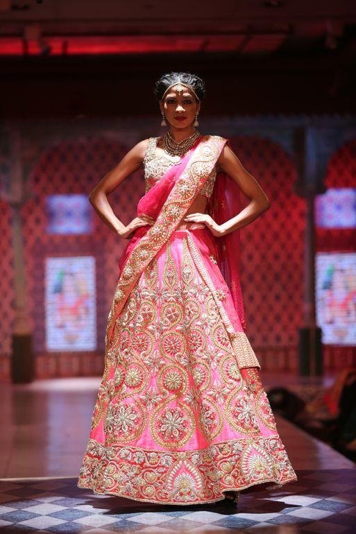 Pink lengha by Niki Mahajan