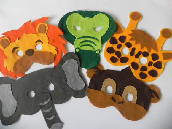 Bosque Máscaras de Animales | mimos Divine | 2C2D11 - Elo7