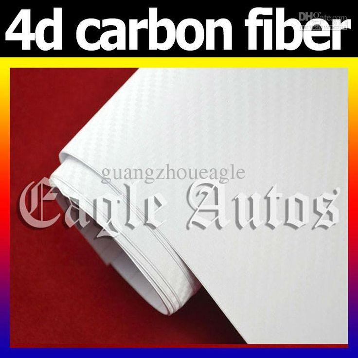 Wholesale 4D Carbon Fiber auto vinyl wrap 4d car wrap film : 98 x 4.9 Feet white colors, Free shipping, $8.02-8.33/Meter | DHgate