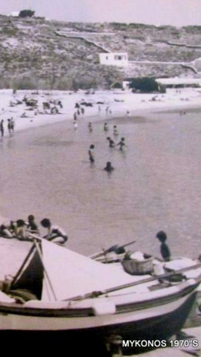 #Mykonos ,#Platys #Gialos #beach in 70's.