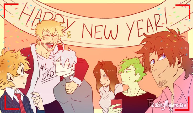 The Logo Family - Happy New Year!!! by FloatingMegane-san on DeviantArt