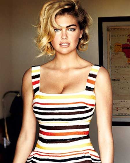 Kate Upton's Gorgeous Asymmetric Bob Cut- I wish I could pull this off this is adorable!