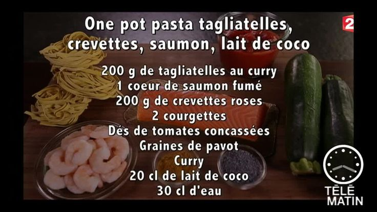 Gourmand - One pot pasta tagliatelles - 2015/09/15