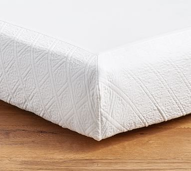 Reeve Matelasse Organic Boxspring Cover #potterybarn