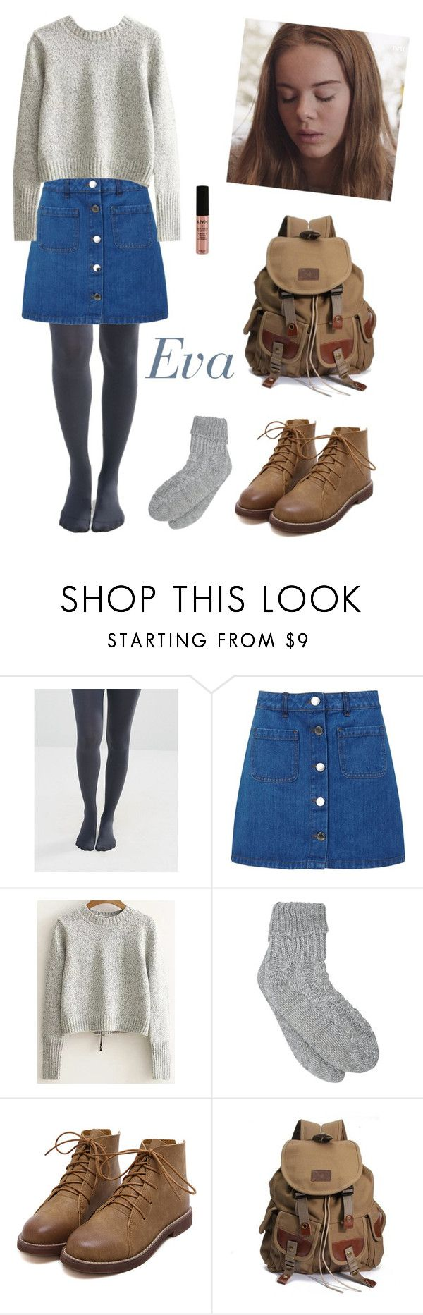 """""""Eva II"""" by aestheticarithmetic ❤ liked on Polyvore featuring ASOS, Miss Selfridge, M&Co, NYX, EVA and skam"""