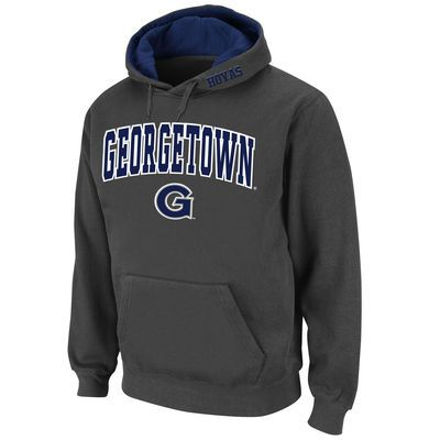 Georgetown Hoyas Stadium Athletic Arch & Logo Pullover Hoodie - Charcoal