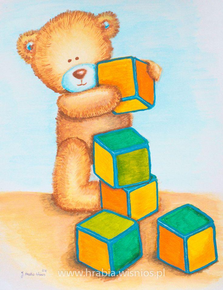 miś-klocki-akryl-obraz-dekoracja-child room-hrabia-wiśnios-1