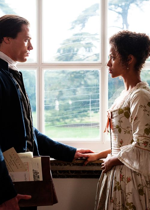 Sam Reid & Gugu Mbatha-Raw in 'Belle' (2014).