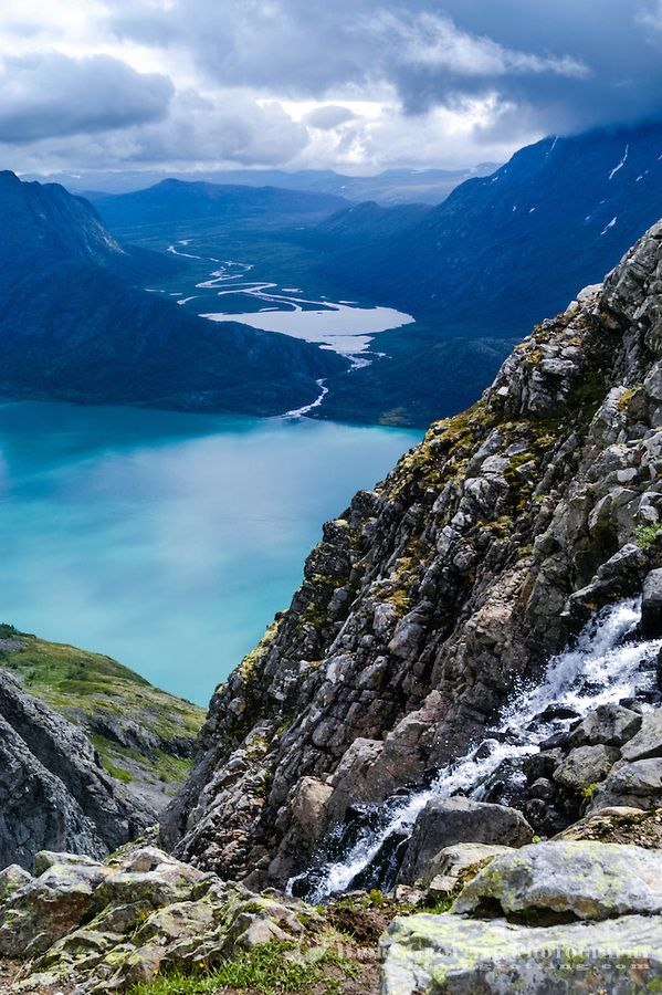 Norway, Jotunheimen. Hiking the famous Besseggen m…