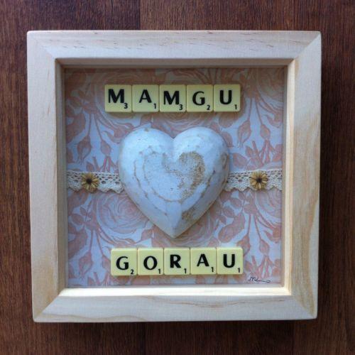 Welsh Mamgu/Mam Gorau Mothers Day Bespoke Scrabble Art Frames, Perfect Gift!