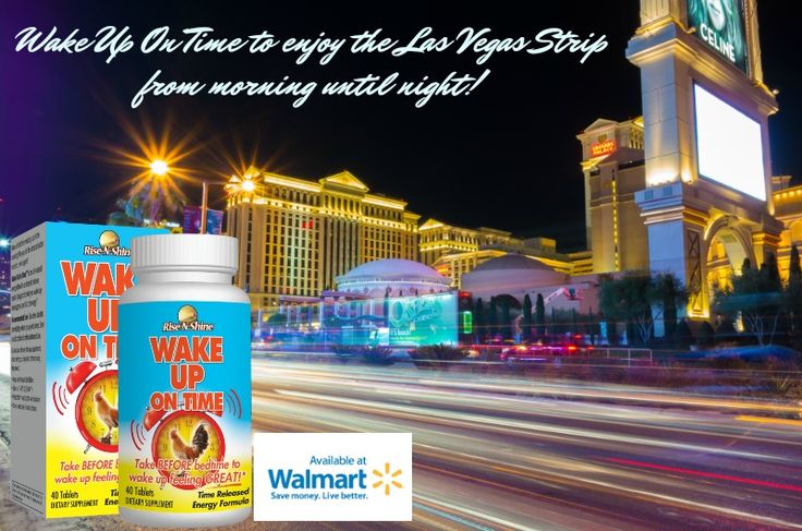 Wake Up On Time to enjoy the Las Vegas Strip from morning until night! Don't forget to pack all natural Wake Up On Time for your trip! Now available at Walmart locations nationwide. Image by Nan Palmero. #risenshine #riseandshine #morning #morningmotivation #wakeup #wakeupontime #allnatural #vitamins #aminoacids #herbs #walmart #madeinamerica #madeintheusa #lasvegas #nevada #lasvegasstrip #vacation #vacationtime #trip #suitcase #luggage