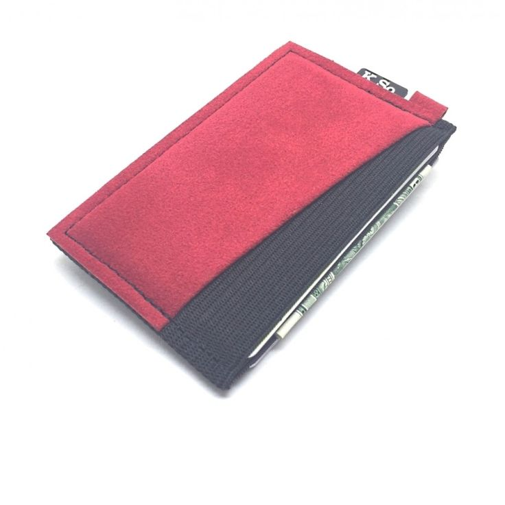 Ultra Slim 4 compartment Minimalist Front Pocket Wallet & Card Holder 'Ultraz-4 Red'