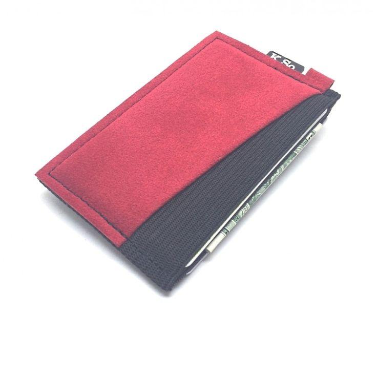Ultra Slim 4 compartment Minimalist Front Pocket Wallet & Card Holder 'Ultraz-4 Red'