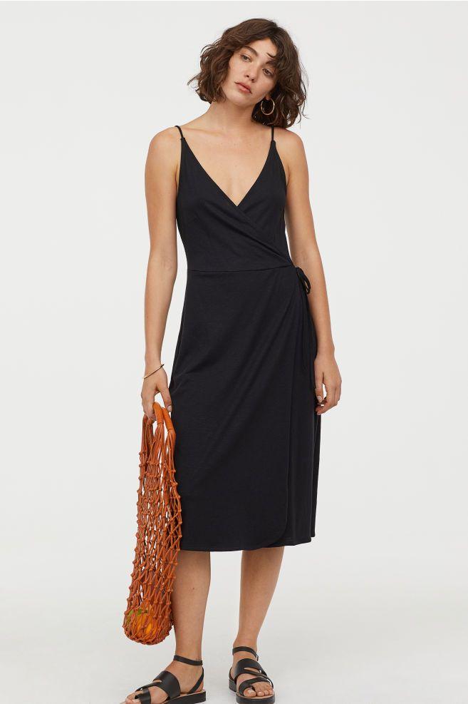 e8b32475be Dżersejowa sukienka z modalem - Czarny - ONA